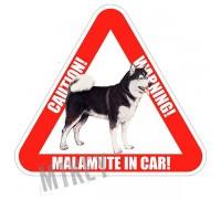 "Наклейка — ""MALAMUTE IN CAR"""